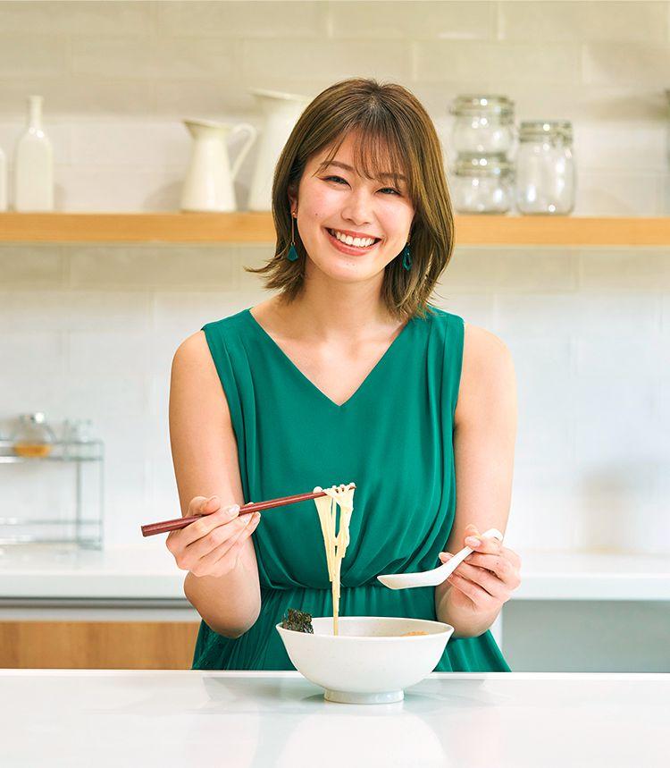 稲村亜美 青汁ラーメンスープ